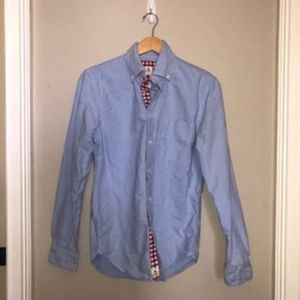 [Bib & Tucker] Blue Button Oxford w/ Red Gingham